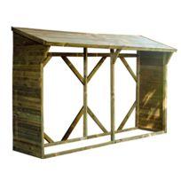 - Bucher en bois Atlanta 320x100x215cm 4 à 5 stères