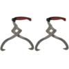 Rocambolesk - Superbe 2 pièces Crochet de levage Pince à bois avec poignée Tpr Neuf