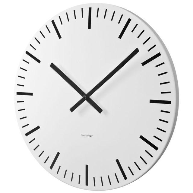 balvi horloge murale white station blanche 85cm x 10cm x. Black Bedroom Furniture Sets. Home Design Ideas