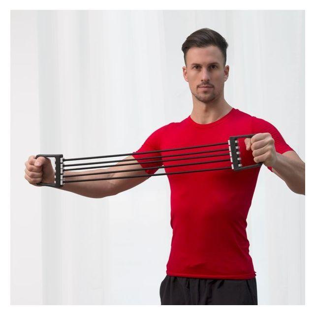 tendeur sport avec 5 sangles lastiques en caoutchouc fitness musculation remise en forme. Black Bedroom Furniture Sets. Home Design Ideas