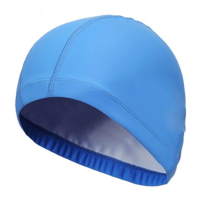 Wewoo - Bonnet de bain bleu Adulte Imperméable à l eau Pu Revêtement  Extensible Cap cec41b3518e