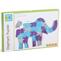 Bs Jeux - Puzzle 26 pièces en bois : Eléphant