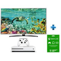 LG - TV LED 49'' 4K UHD Smart TV -49UH668V + Console Xbox One S 500go + Abo Xbox One Live Gold 12 mois