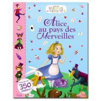 Editions Auzou - Livre de stickers et d'activités : Alice au pays des merveilles