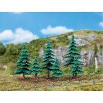 Faller - Modélisme accessoires de décor : Végétation : Arbres : 3 petits et 3 grands sapins