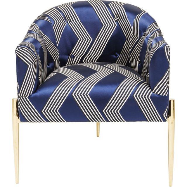 Karedesign Fauteuil Kimono bleu Kare Design