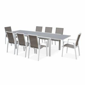 alice 39 s garden washington blanc marron 8 places pas cher achat vente ensembles tables et. Black Bedroom Furniture Sets. Home Design Ideas
