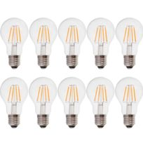 ECLAIRAGE DESIGN - Lot de 10 Ampoules E27 4W Filament eq. 40W blanc chaud 2700K