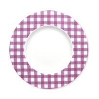 Bruno Evrard - Assiette dessert en porcelaine 23cm - Lot de 6 - Porcelaine - Violet