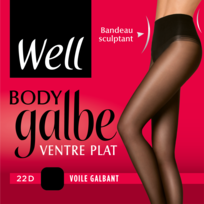 WELL - COLLANT BODY GALBE VENTRE PLAT Noir