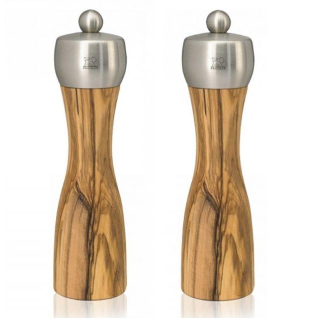 PEUGEOT moulin à poivre + moulin à sel 20cm bois naturel - 33828+33835