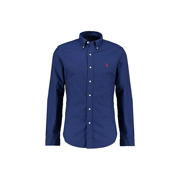 Ralph Lauren - Chemise Homme Bleu Navy Slim-fit Taille L - pas cher Achat   Vente  Chemise homme - RueDuCommerce 16686345bfd