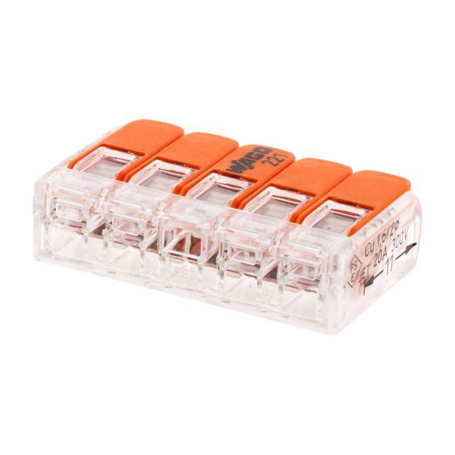 WAGO Lot de 10 connecteurs /à levier 3 fils Gris