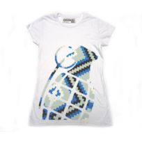 Grenade - T-shirt Stamp 2 White