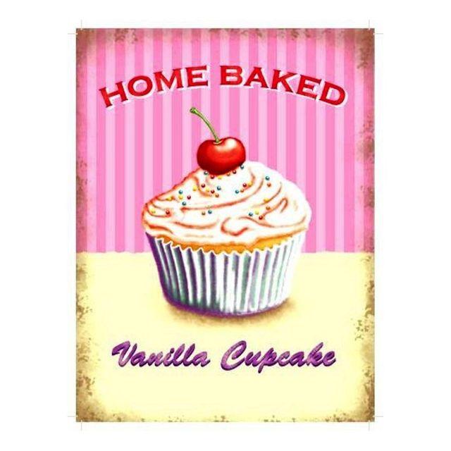 Universel Plaque gateau home baked vanilla cupcake tole deco cuisine