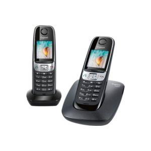 Gigaset t l phone sans fil duo c620 noir pas cher - Telephone fixe sans fil longue portee ...