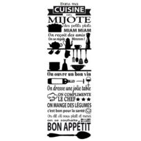 500x1540 mm dans Ma Cuisine Sticker Texte Adh/ésif Brillant Orange