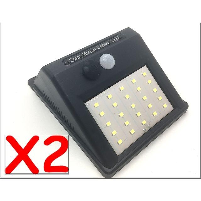 Generique Lot De 2 Spots 25 Led 400 Lumens Eclairage Exterieur