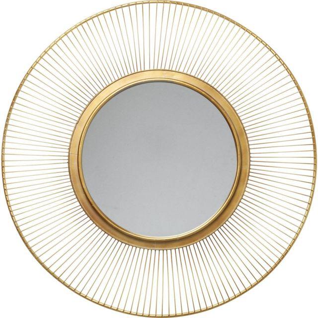 Karedesign Miroir Sun Storm doré 93cm Kare Design