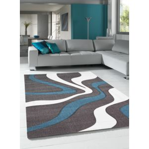 un amour de tapis tapis polypropylene todila tapis moderne par unamourdetapis bleu 60 x 110 cm. Black Bedroom Furniture Sets. Home Design Ideas