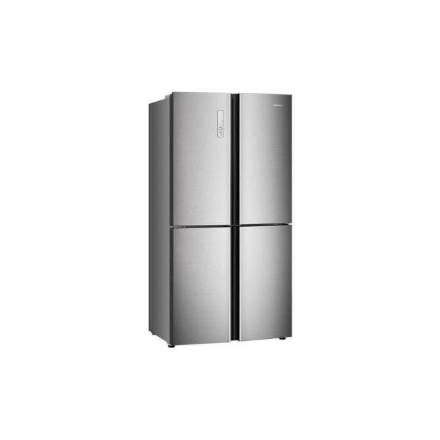 Harper Hisense Rq689n4ac1 - Refrigerateur Multi-portes - 556l 362l+194l - Froid Ventile Total - A+ - L91x H181 - Metal Brillant