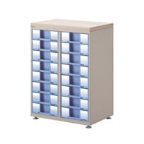 Clen - Module 2 colonnes équipées de 16 tiroirs H 9 cm