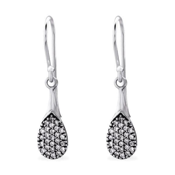 Sochicbijoux so chic bijoux © boucles doreilles goutte bali oxyde de zirconium argent 925