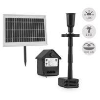 BLUMFELDT - fontaine 500 pompe à eau solaire 500 l/h LED batterie