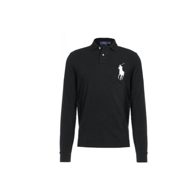 Ralph Lauren - Polo Noir Manches Longues Big Poney - pas cher Achat ... e7e5adc3ad98