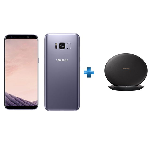 samsung galaxy s8 orchid e chargeur induction rapide noir finition cuir pas cher achat. Black Bedroom Furniture Sets. Home Design Ideas