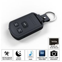 Shopinnov - Camera espion Cle de voiture Hd vision nocturne et detection mouvement 16Go