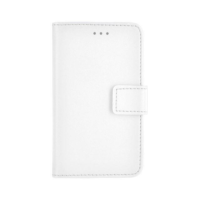 Bbc - Etui folio universel taille L blanc pour mobiles jusqu'à 5.7 pouces