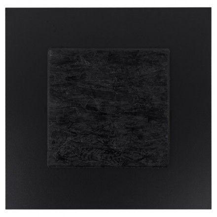 TECHNEB Plateau de table LILAS carré en polymère 68cmX68cmX3cm, noir