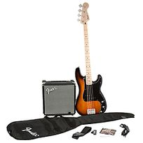 Squier - Stop Dreaming Start Playing Set Precision Bass with Fender Rumble 15 Sunburst