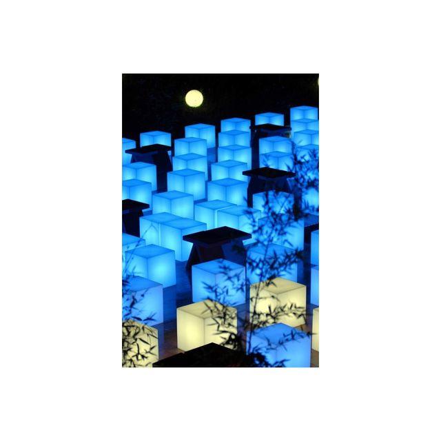 Slide - Cube lumineux Cubo 40 cm Led Rgb