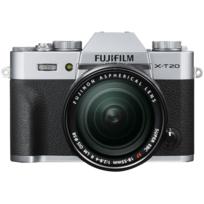 Fuji - Appareil photo hybride Silver - X-T20 18-55