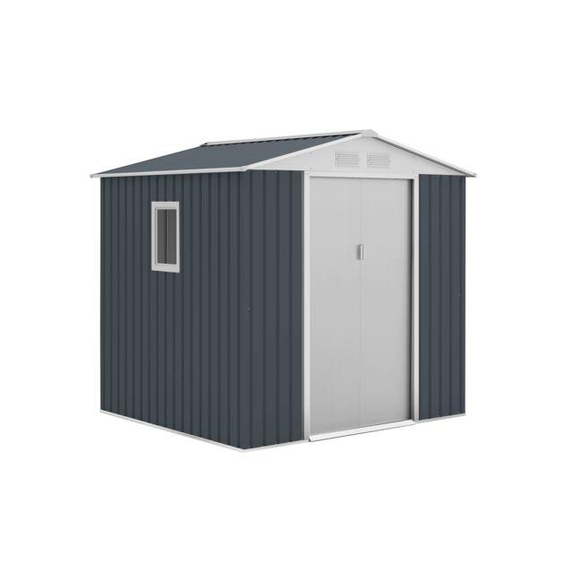 Gardiun Abris en Métal Darlington Anthracite/Blanc 4,07 m² Extérieur - Kis12132
