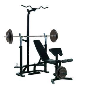 Homcom banc de musculation fitness entrainement complet - Banc de musculation multifonction pas cher ...