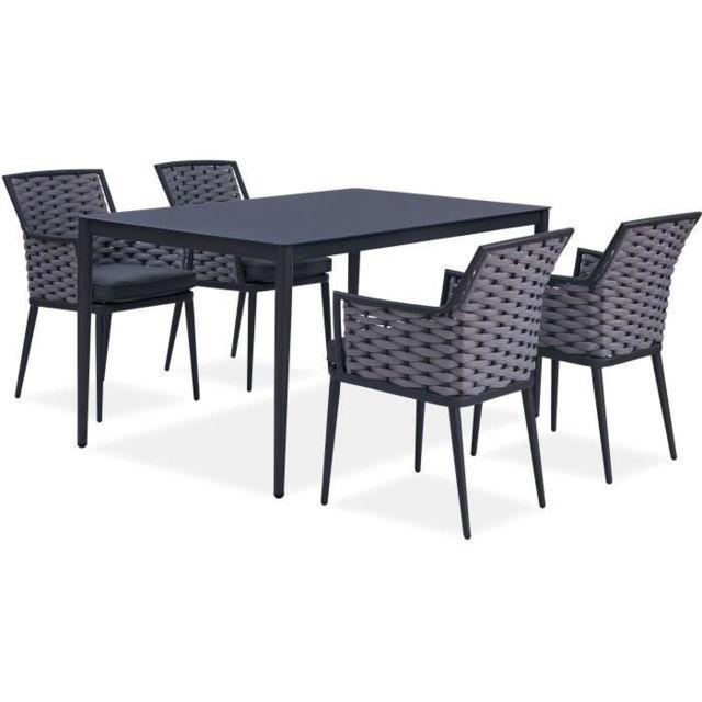 MARQUE GENERIQUE - SALON DE JARDIN - ENSEMBLE TABLE CHAISE