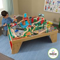 KIDKRAFT - Ensemble table et train Cascade naturelle - 18001
