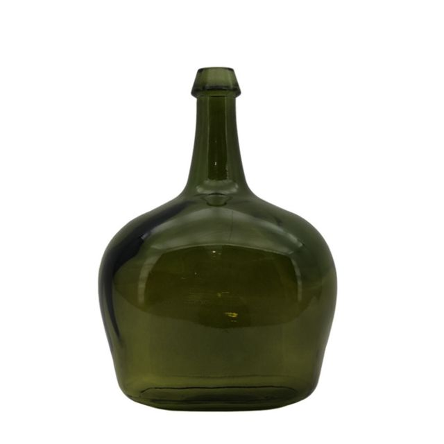 L'ORIGINALE Deco Bouteille Jarre Vase en Verre Recyclé Vert 40 cm x ø27 cm