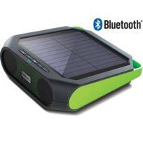 SOULRA - RUGGED RUKUS - Enceinte nomade - Bluetooth - Tout terrain - Énergie solaire - Revêtement anti éclaboussures - Vert