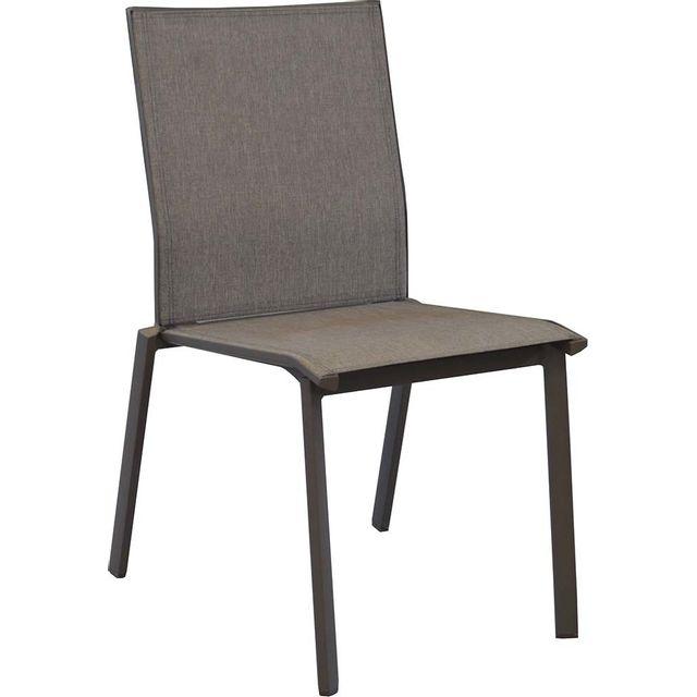 PROLOISIRS Chaises en aluminium Palma Lot de 2