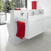 Blomus - Porte Serviette Mural Double Design Inox Poli