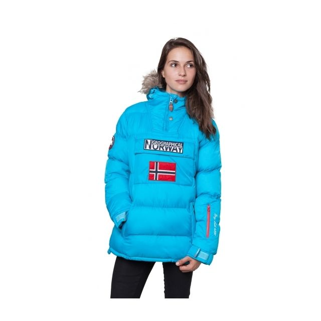 3434bf373aa Geographical Norway - Parka Doudoune femme Bolide Turquoise Géographical  Norway