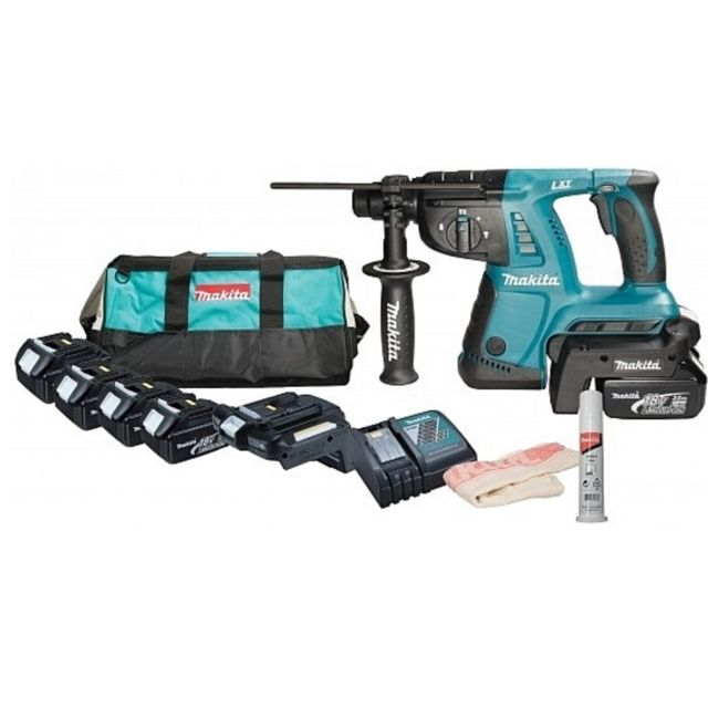 makita perforateur burineur 26mm sds plus 36v li ion 4. Black Bedroom Furniture Sets. Home Design Ideas
