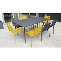 Table jardin metal couleur - catalogue 2019 - [RueDuCommerce ...