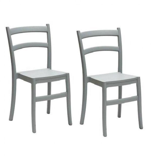 Inside 75 Lot de 2 chaises Venezia design polypropylène