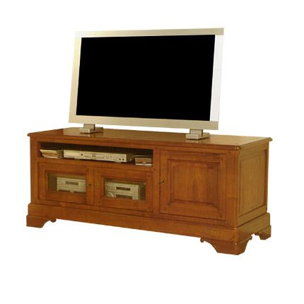 Meuble Tv 1 porte 2 tiroirs 1 niche en chêne massif