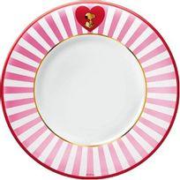 Snoopy - Assiette en céramique pink love